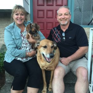 Steph, Ron, Ruby and Jackson at Jet Set Pet Sitters Headquarters in Damascus Oregon